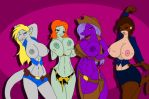 Strippers Line-Up by TheSharkGuy