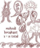 redLillith Mehndi set 3 by rL-Brushes