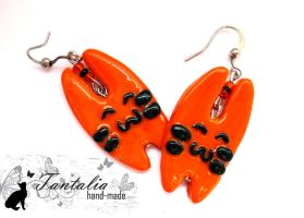 "Earrings ""Tiger hares"" by Tantalia"