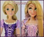 repainted ooak singing rapunzel doll. by verirrtesIrrlicht