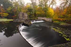 Morristown falls...during he fall. by maxre