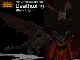 MMD Accessory - WoW Cataclysm - Deathwing by StealthLazarusOfNod