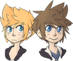 Roxas and  Sora by Hofftitts