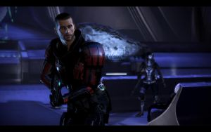 ME3 Thessia - Alan Shepard and Tali 2 by chicksaw2002