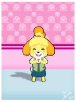 Isabelle in a Seashell Room by subatomiclaura