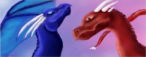 Two Dragons by Superpersonx