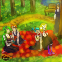 Sisters At The Park by rogues-fox