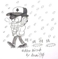 Dipper Pines in snow area. by komi114