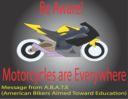 Motorcycle Awareness Bumper Sticker by Zach-USA