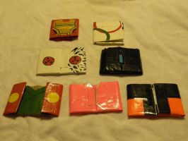 Duct Tape Wallets: Fronts by Mattierial