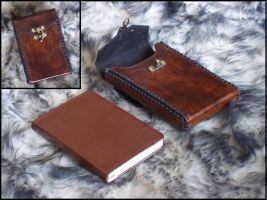 Leather Notebook Case by SteamViking