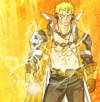Laxus The Lightning Dragon Slayer 2 by fullmetaljuzz