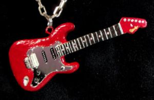 Alex Lifeson Red Mirror Strat by frenziedsilence