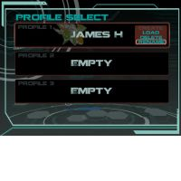 Ion Drive Profile select screen by Hamtoilet