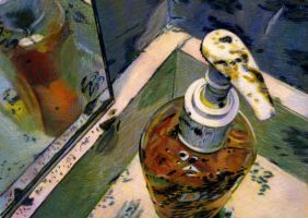 Dirty Bathroom Egg Tempera by egoodwinart