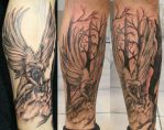 Big Angel and Background TaT by 2Face-Tattoo