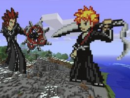 Axel Vs Ichigo by Cyael