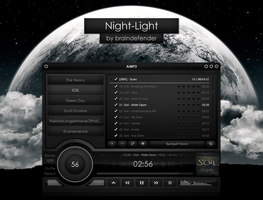 -003 Night-Light v2 Skin For AIMP3 by braindefender