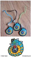 Happy Gyarados Charms by Flamma-Lea
