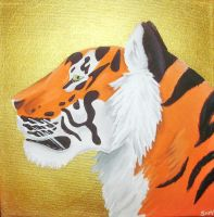 Tiger on Gold by SamTheBandit