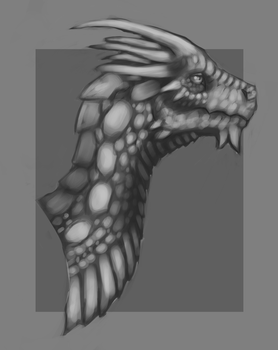 Dragon Bust Doodle [Stream Result] by Harley-Owen