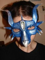 blue dragon mask DONE by GabriellesWings