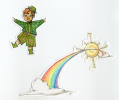 Rainbow and Leprechaun by LMJWorks