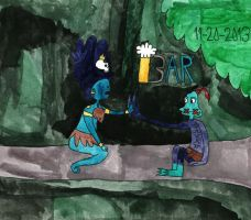 Abe and the Jungle princess: OOO's only exception by BARproductions