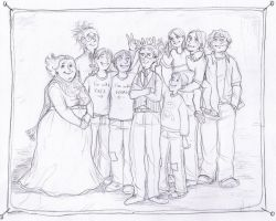 Weasley family portrait by gerre