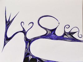 Abstract Love Flow Sketch by RuthlessProductions