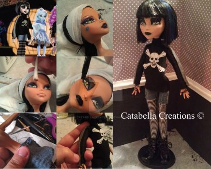 Custom Monster High Claire from Ghouls Rule Movie by catabellacreations