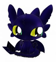Cute little Toothless by RainbowClaire