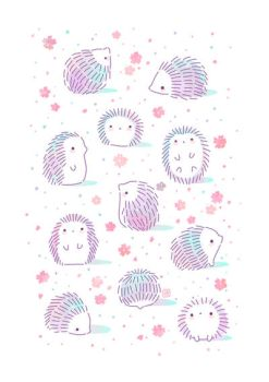 Spring Hedgehogs by freeminds