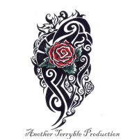 Rose tattoo design 2 by terryrism