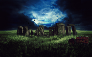 Stonehenge in the Field by Quality-RB