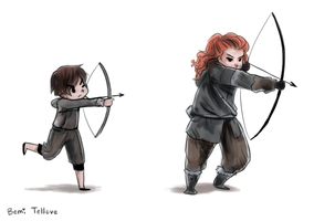 Game Of Thrones Doodle S4 E9 by BemiTellove