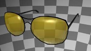 Low-poly shooting glasses by lapinlunaire