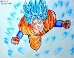 DIBUJO DE GOKU SSJ DIOS SSJ AZUL-DRAGON BALL SUPER by SeindonArt