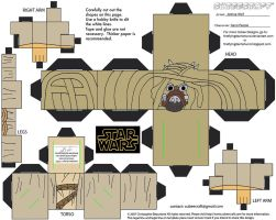 SW14: Sand People Cubee by TheFlyingDachshund