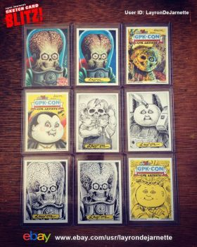 FOR SALE: Mars Attacks AP and many sketch cards by DeJarnette
