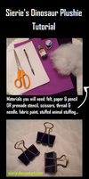 Dinosaur Plushie Tutorial! by Sierie