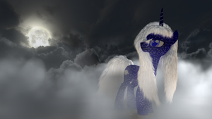 MLP Fluffy - Winter Moon - Nebula by VeryOldBrony