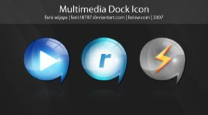 Multimedia dock icon by faris18787