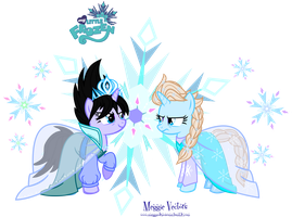 Good Elsa VS Evil Elsa by MeganLovesAngryBirds