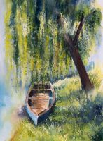 Under a willow by EarlyOctober