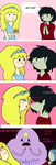 Fiona and Marshall lee's Attempt at first kiss by Mohxi
