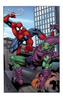 Spidey vs Green Goblin by Shugga
