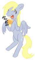 Hungry Derpy by Heireau