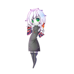 Pixel doll- Carmine (comission) by oOBaka-AdiOo
