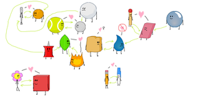 List of BFDI couples/shippings/whatever (accurate) by HerpDerp1337lawl
